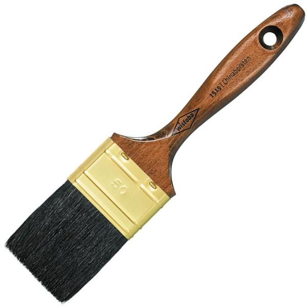 Flachpinsel mit schwarzen Borsten ideal für Maler