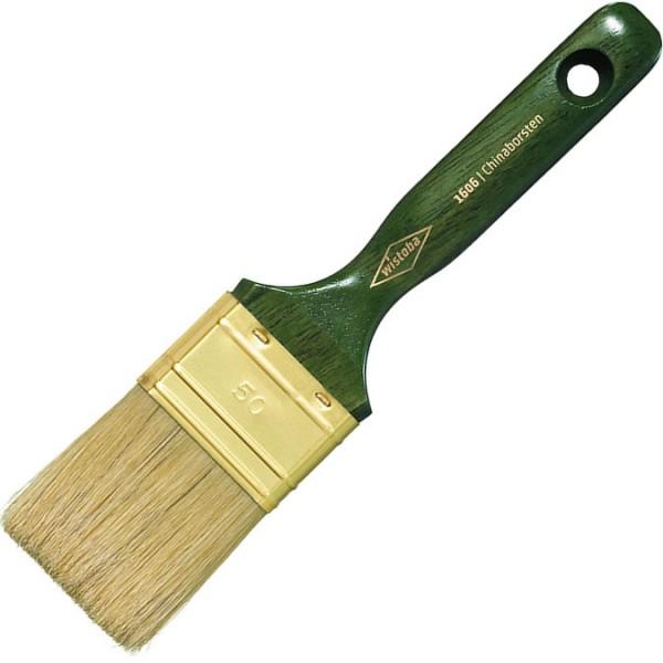 Maler-Flachpinsel mit hellen Borsten